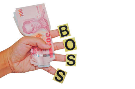 money in hand, gift from boss Stock Photo - 10837271