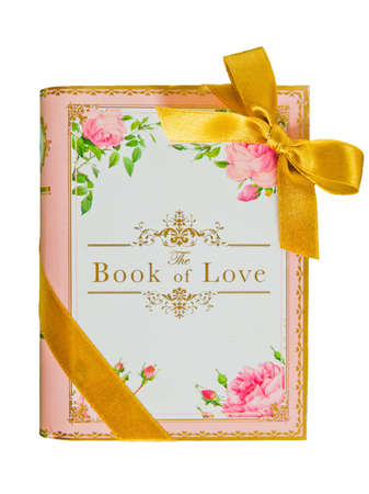 the book of love on white background photo