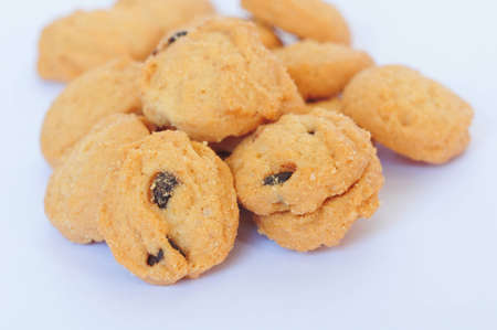 closeup of cookies on white background Stock Photo - 10837297