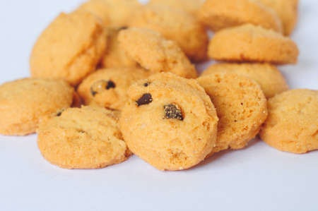 closeup of cookies on white background Stock Photo - 10837298