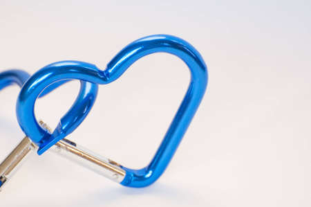 Blue Heart Shaped on white background photo