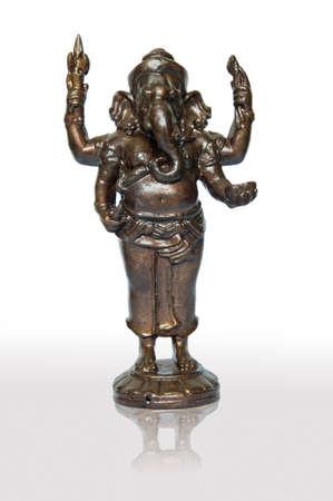 Hindu God Ganesh, on white background Stock Photo - 10905294