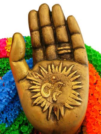 Hand of Hindu God Ganesh photo