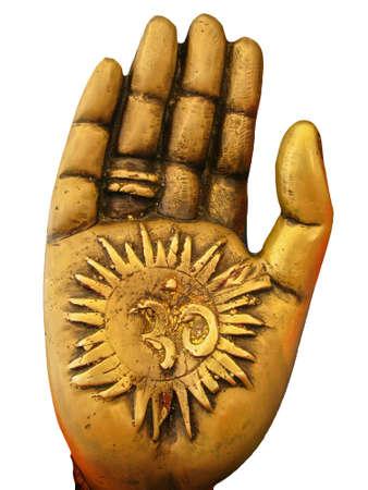 hinduismo: La mano de dios hind� Ganesh Foto de archivo