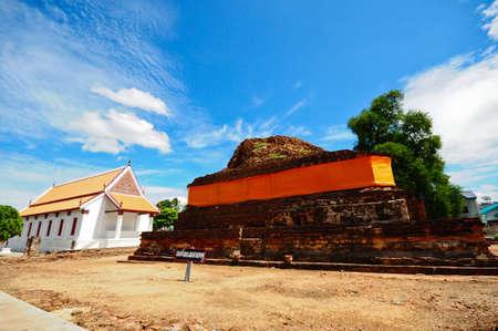 nat: ruins pagoda at wat mahathat temple, Sankhaburi, Chai Nat, Thailand