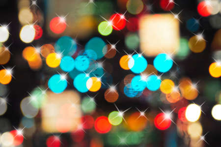 abstract, bokeh of celebration light texture