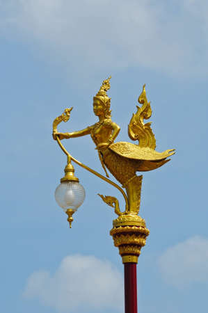 Decorated at Thai street Lamp (Kinnaree) photo