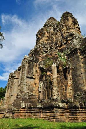 The Gate at Bayon Temple, Angkor Wat, Cambodia Stock Photo