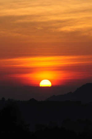 Beautiful Sunrise in Thailand Stock Photo
