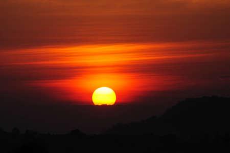 Beautiful Sunrise in Thailand Stock Photo