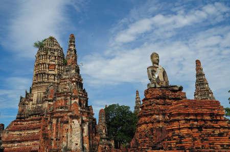 Ruins of Chaiwatthanaram Temple. Ayutthaya Historical Park, Thailand
