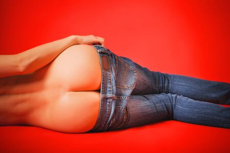 womens buttocks and jeans