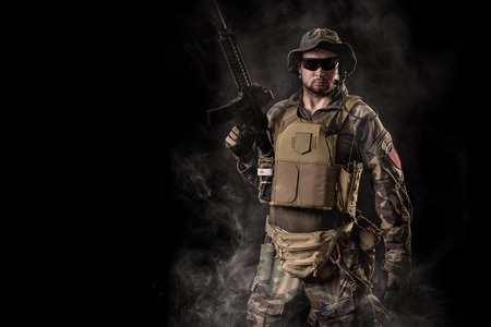 rifleman: Special forces soldier Stock Photo