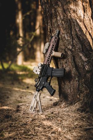 assault: assault rifle in the forest