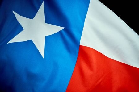 Texas flag waving in the wind on Independence Day in America Stock Photo