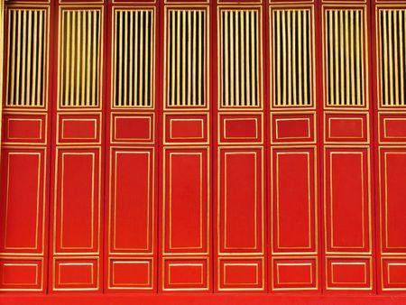 Temple door. Hue. Vietnam photo