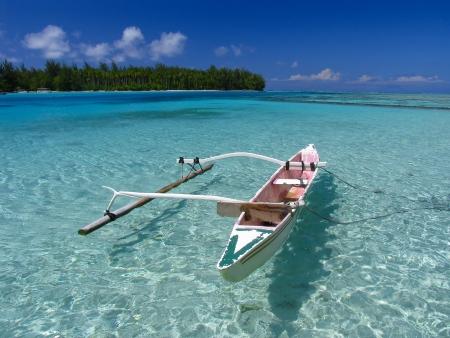 moorea: Fishing boat. Polynesia