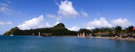 st lucia: Pigeon Island St Lucia Stock Photo