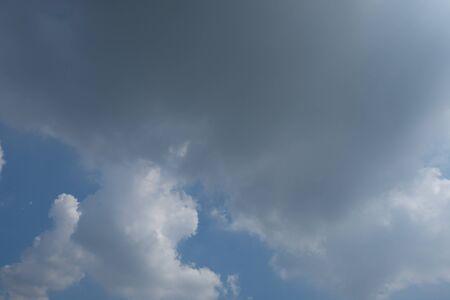 bluesky: blue and cloudy sky background Stock Photo