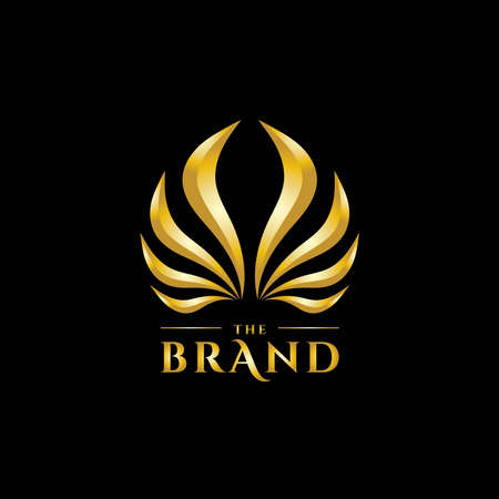 premium abstract wings with elegant shape logo design-vector