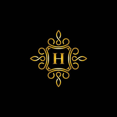 Shield and sword logo design symbol - Vector