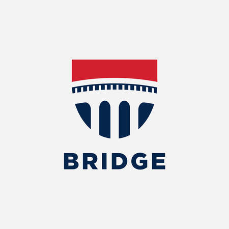 Bridge symbol logo design inspiration-Vector