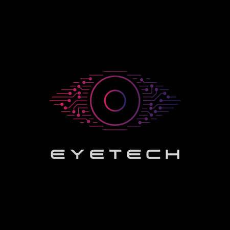 eye technology logo design symbol vector template
