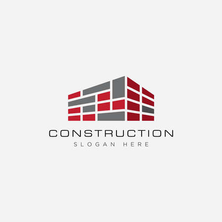 Construction logo design template Logó