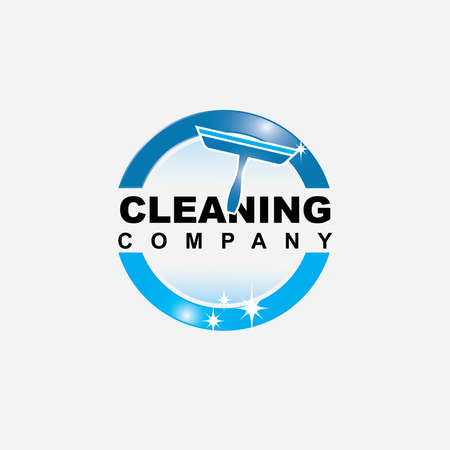 Cleaning service logo design vector template inspiration