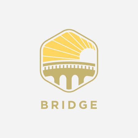 Bridge symbol logo design inspiration-Vector Stock fotó - 156875374