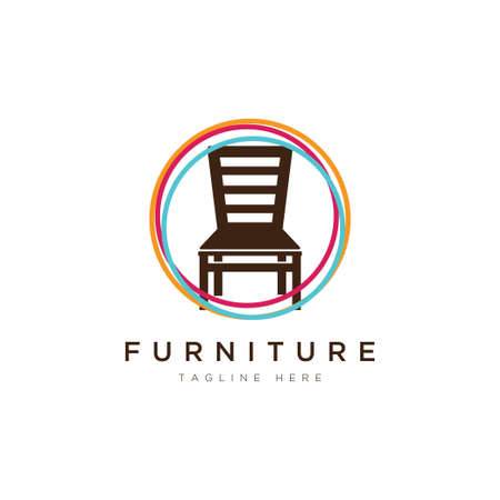 furniture logo design.Symbol and icon of chairs, sofas, tables, and home furnishings