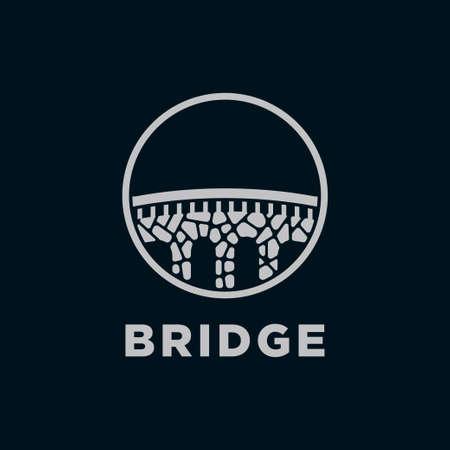 bridge stone logo design vector template.Creative bridge logo inspiration