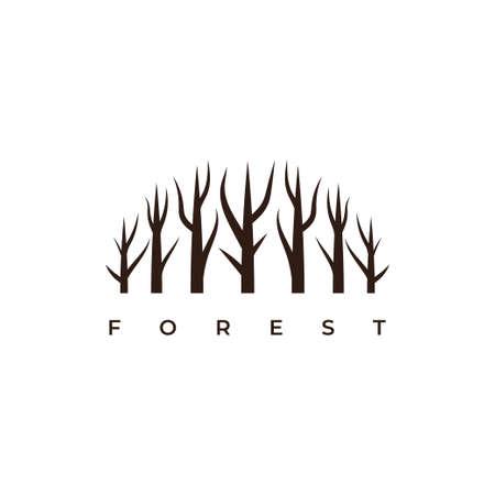 Forest symbol logo design vector template