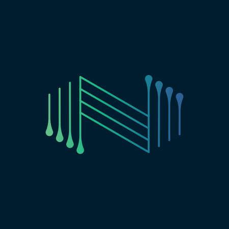 Modern letter N logo design template.Creative letter N icon