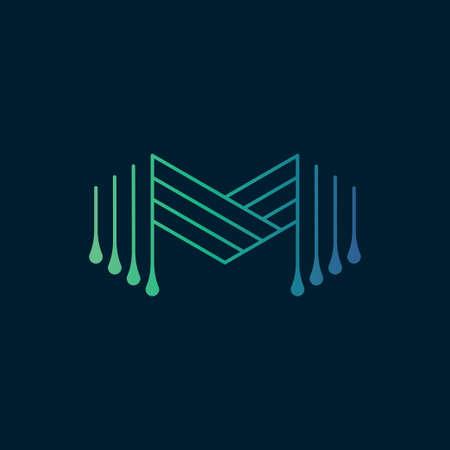 Modern letter M logo design template.Creative letter M icon