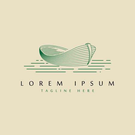 vintage boat logo design template