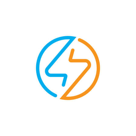 Electrical logo design vector template. creative tech storm icon