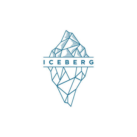 Iceberg logo design illustration vector template