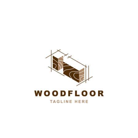 Wood logo with letter I shape illustration vector design template