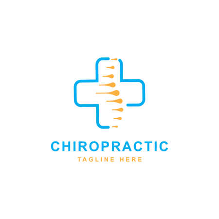Healthcare logo design icon vector template. Chiropractic symbol illustration