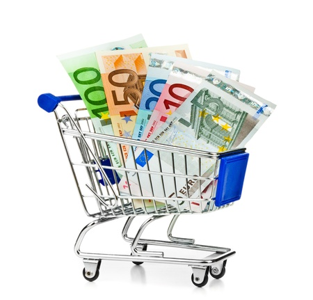 Cart with money Stock Photo - 16103969