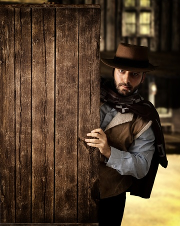 Bad gunman in the old wild west