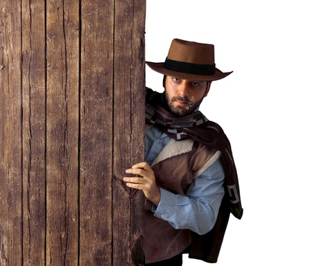 Bad gunman in the old wild west photo