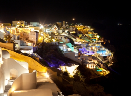 Oia village in Santorini island - Greece. photo