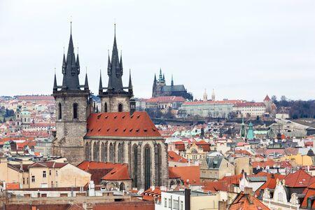 tyn: Church of Virgin Maria Before Tyn - Prague - Czech republic Stock Photo