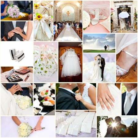 Symbole i emocje - collage Wedding