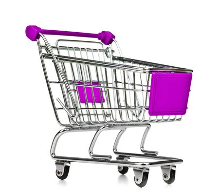 online shopping cart: Isolated Shopping Cart on white background
