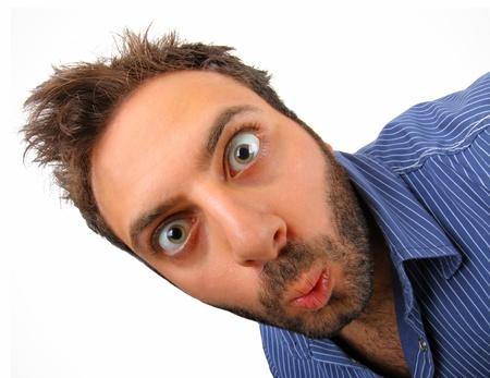 Surprised boy on  white background Stock fotó - 25236594