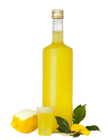 Italian alcoholic beverage - Limoncello Stock Photo