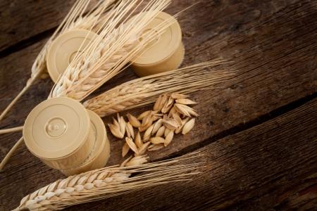 Pods of barley photo